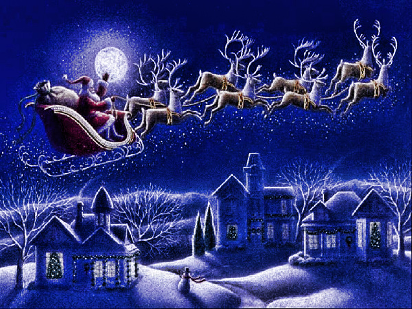 Slitta Babbo Natale Immagini.Slitta Babbo Natale